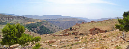 Jordanian Hills. Panoramic view of the Jordanian Hills royalty free stock image