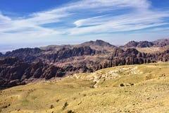 Jordanian landschap Stock Afbeeldingen