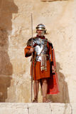 Jordanian man dresses as Roman soldier. JERASH - NOVEMBER 25: Jordanian man dresses as Roman soldier during a roman army reenactment show on November 25, 2009 in royalty free stock photography