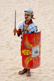 Jordanian man dresses as Roman soldier Stock Image