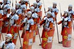 Jordanian man dresses as Roman soldier Stock Image