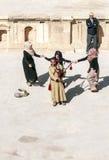 Jordanian man playing bagpipes Stock Photography