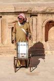 Jordanian man playing drum Royalty Free Stock Photo