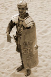 Jordanian men dress as Roman soldier Stock Photo