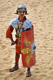 Jordanian men dress as Roman soldier Stock Photography