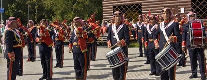 Jordanian military orchestra Royalty Free Stock Photo