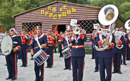 Jordanian military orchestra Royalty Free Stock Photography