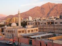 Jordanian pink landscape stock image