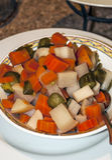 Jordanian salad of pickles Stock Photo