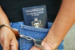 Jordanian Suspect Royalty Free Stock Photography