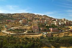 Jordanian village to Petra Royalty Free Stock Photo