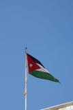 Jordanian vlag stock fotografie