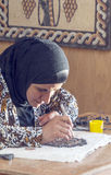 Jordanian woman working Royalty Free Stock Photo