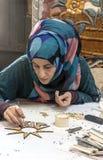 Jordanian woman working Royalty Free Stock Image