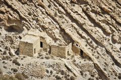 Jordanien: Övergiven liten by Royaltyfria Foton
