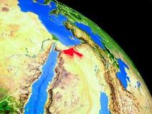 Jordanien auf Planet Erde lizenzfreie abbildung