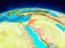 Jordanien på jord Royaltyfria Foton