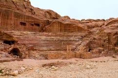Jordanien Petra, amfiteater Arkivfoto