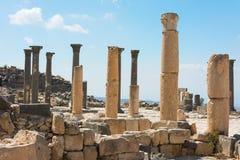 Jordanien som Umm Qais Roman fördärvar Royaltyfria Foton