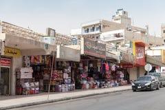 Jordanien, Straßenansicht von Aqaba stockbild