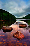 Jordanien-Teich, Acadia-Nationalpark lizenzfreie stockfotografie