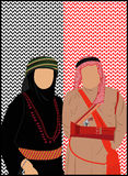 Jordanien- u. Palästina-Stand lizenzfreie abbildung