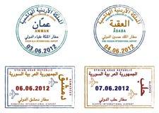 Jordanien u. Syrien Lizenzfreie Abbildung