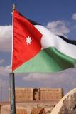 Jordanienflagga Arkivfoton