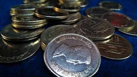 Jordanier-lokale silberne kleine Münzen Stockfotografie