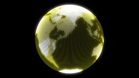 Jordanimering Roterande lioop för jordklot 4k royaltyfri illustrationer