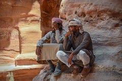 Jordanowscy Petra Arabscy Beduińscy ludzie obrazy stock