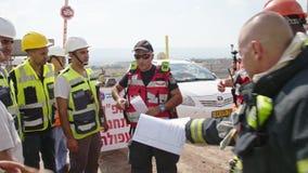 Jordanowska dolina, Izrael Lipiec 10 2018 - Rescure siły podczas akci ratowniczej zbiory wideo