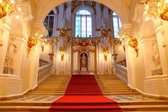 Jordanowski schody zima pałac zdjęcia royalty free