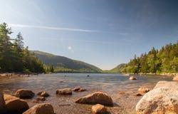 Jordans-Teich im Acadia-Nationalpark lizenzfreie stockbilder