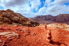 Jordansk öken Arkivbild
