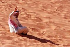 Jordansk arabisk man Fotografering för Bildbyråer