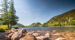 Jordansvijver in het Nationale Park van Acadia stock afbeeldingen