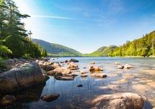 Jordansvijver in het Nationale Park van Acadia royalty-vrije stock foto