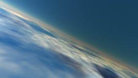 Jordatmosfär (den sömlösa öglan) stock video