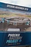 Jordavbrott Phoenix för internationell kapplöpningsbana Arkivbild