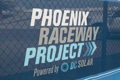 Jordavbrott Phoenix för internationell kapplöpningsbana Fotografering för Bildbyråer