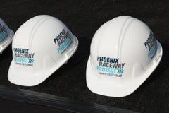 Jordavbrott Phoenix för internationell kapplöpningsbana Arkivfoton