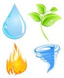 Jordbeståndsdelar stock illustrationer