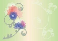 Jordbild för blom- diagrambaksida vektor illustrationer