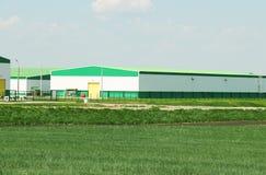 Jordbruk modern lantgård Arkivfoto
