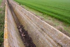 Jordbruks- akvedukt, bevattningsystem Arkivbild