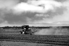 Jordbruks- bakgrund för Bw Arkivfoton