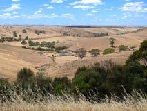 Jordbruks- land för panorama Royaltyfri Fotografi