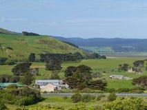 Jordbruks- landskap Arkivfoto