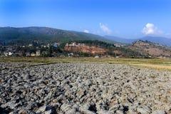 Jordbruks- landskap av Bhutan Arkivbilder